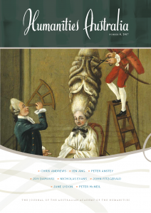 Cover of Humanities Australia 2017 edition