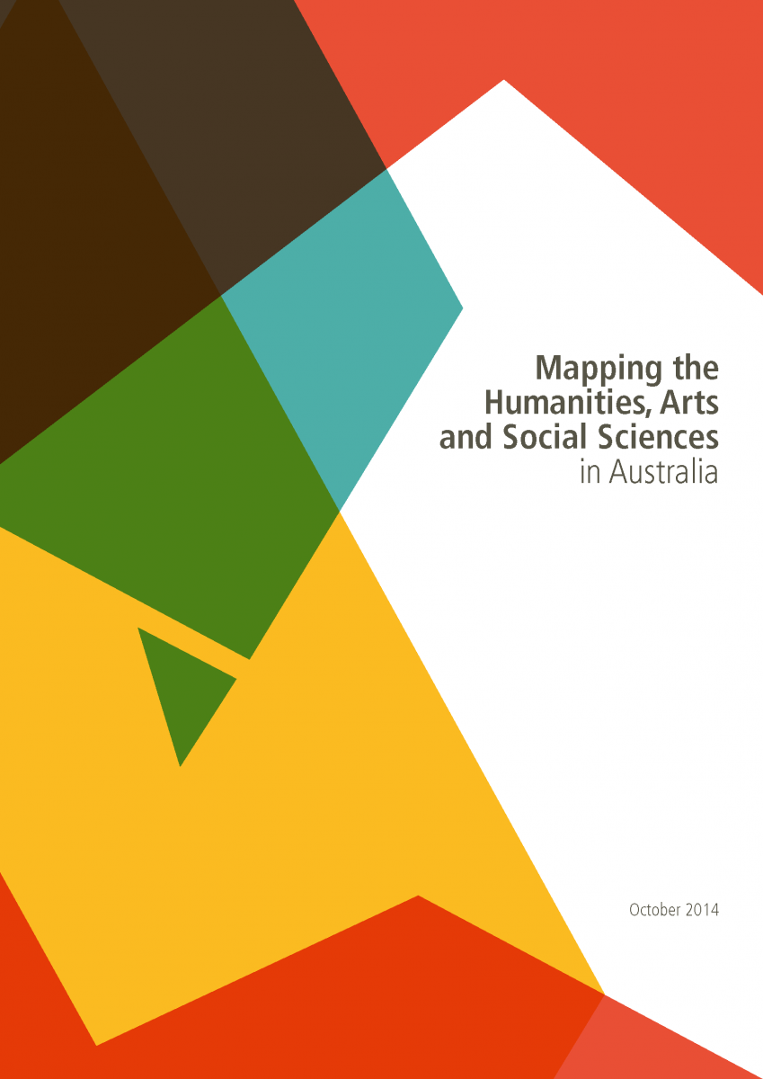 Cover page of Mapping the Humanities, Arts and Social Sciences in Australia