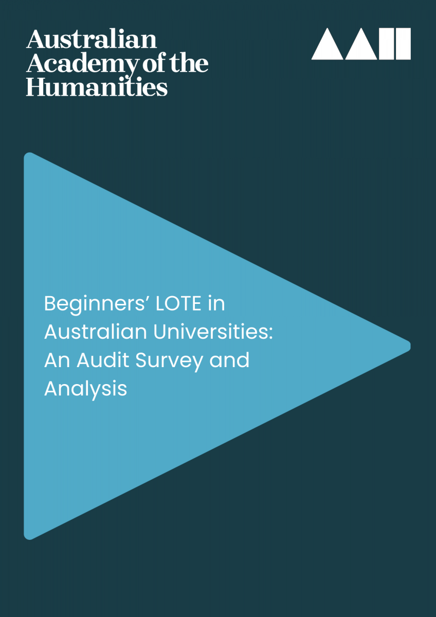 Cover of Beginners' LOTE in Australian Universities: An Audit Survey and Analysis report