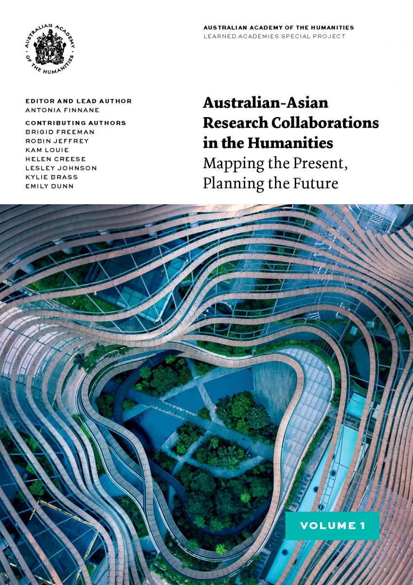 Cover of Australian-Asian Research Collaborations in the Humanities report