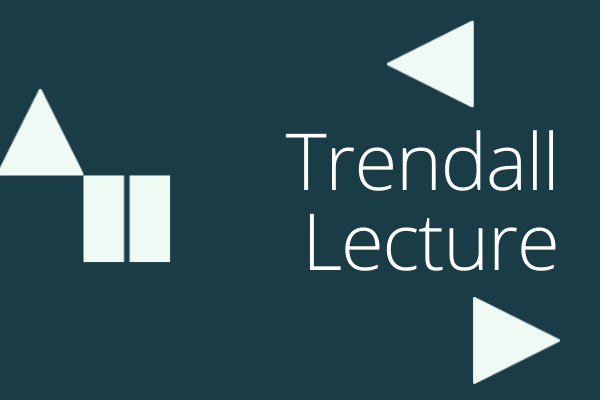 Dark blue box with title Trendall lecture
