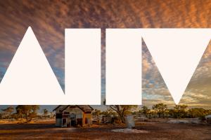 Australian landscape with shapes overlayed