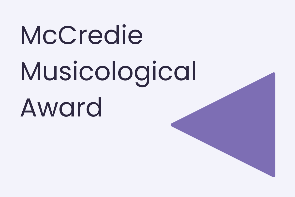 McCredie Musicological Award