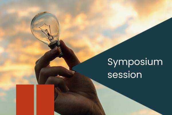 Symposium session with lightbulb