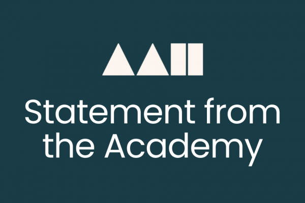 Statement from the Academy banner dark green