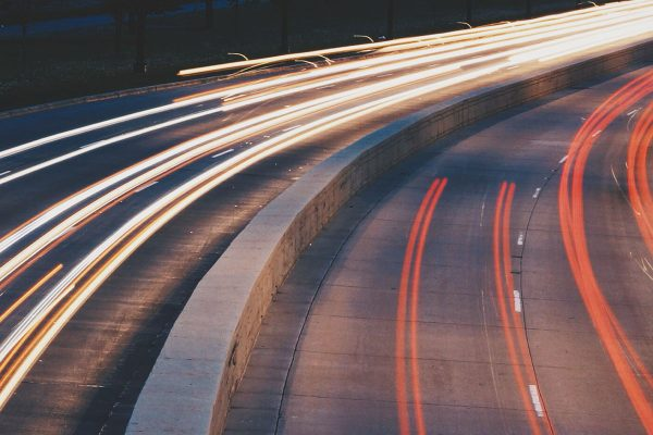 Traffic, lights, city, night