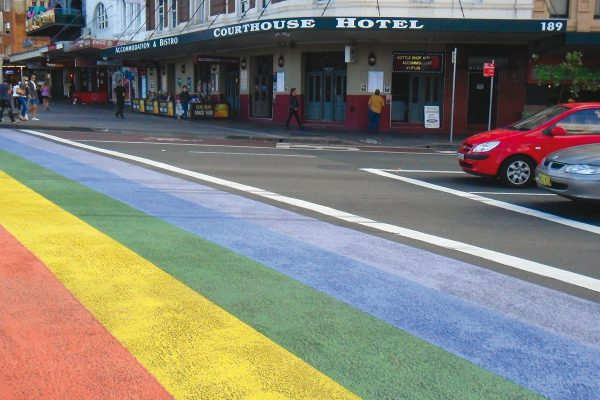 'Taylor Square Rainbow Crossing' by Steven Cateris